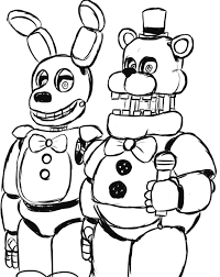 5 Nights At Freddys Coloring Pages Nocl Simple Freddy S Five Sister
