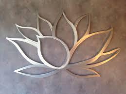 Lotus Flower Metal Wall Art - Lotus Metal Art - Home Decor - Metal Art - Wall  Art - Large Metal Wall Art -Silver Wall Art - Metal Wall Decor