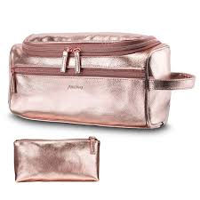 Unisex <b>Cosmetic Bags</b> Organizer PU Waterproof <b>Large Capacity</b>