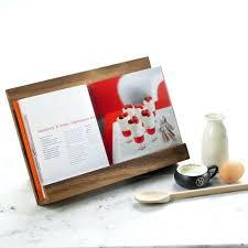 acacia recipe book holder wooden nz