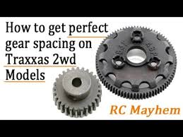 How To Set The Prefect Gear Spacing On Any Traxxas 2wd Model Tutorial