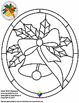 Christmas Stained Glass Patterns Adorable Stained Glass Patterns For FREE