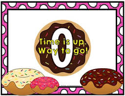 Ten Minutes Countdown Timer Countdown 10 Minutes Or Less Donut Theme Fun For Math Centers