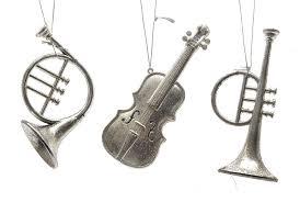 Zeitzone Christbaumschmuck Instrumente Weihnachten Silber 3