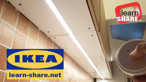 ikea lighting kitchen. IKEA Kitchen Lighting OMLOPP - How To Install Countertop LED Light Ikea