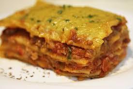 Classic Lasagne Vegan Classic Lasagna With Soya Granules And Gluten Free Lasagna