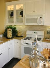 Small Picture Kitchens With White Appliances Oak Cabinets And White Appliances