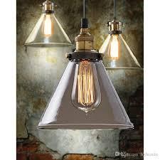 vintage industrial pendant lighting. retro vintage industrial glass shade loft pendant light lamp ceiling edison bulb e27 funnel chandelier lighting n