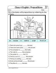 Worksheet #595725: Preposition Worksheets Kindergarten – Complete ...