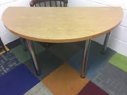 chrome office desk. Image Is Loading Semi-Circular-Wooden-Meeting-Room-Table-or-Office- Chrome Office Desk