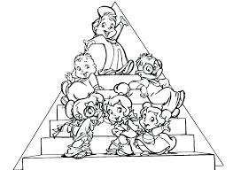 Colora E Ritaglia I Personaggi Del Simpatico Cartone Animato Alvin