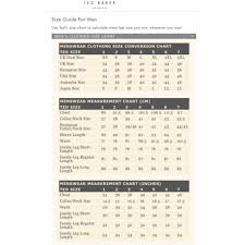 Ted Baker Mens Size Chart Uk Best Picture Of Chart