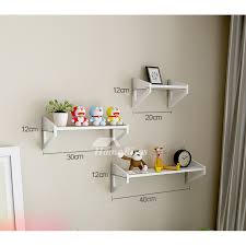 white wall mounted shelves pvc ledges