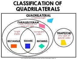 Venn Diagram Of Quadrilaterals Classification Of Quadrilaterals Venn Diagram By The Dollhouse Collector
