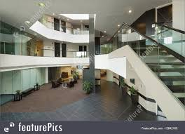 image business office. Interior Architecture: Entrance Hall Of Business Office With Balconies, Staircase And Green Glass Image S