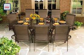 stone pavers for contemporary patio decoration with sears patio furniture and brick wall also glass