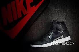 nike air jordan 1 high black anthracite white black patent leather basketball shoe topdeals