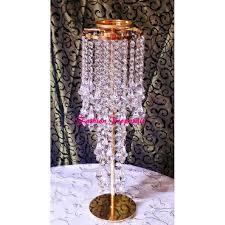 wedding gold crystal candelabra candle holder candelabra with flower vase set of 20 crystal