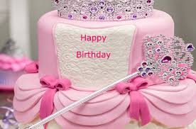 Birthday cakes you can write names on ~ Birthday cakes you can write names on ~ Happy birthday princess cake for girls with name happybirthday