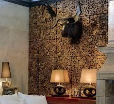 Interior Design, Unique Wall Finishes Unique Wood Wall Covering Ideas  Homesfeed Home Decor Ideas: