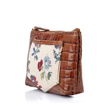 clever carriage pany high tea croco embossed makeup bag