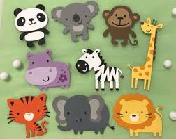 baby shower zoo animals. Wonderful Baby Zoo Animal Cutouts Die Cuts Animals Circus Baby  Shower Decor Birthday Party Scrapbook Set Of 6 Or 9 Throughout Animals H
