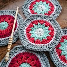 Hexagon Crochet Pattern Mesmerizing Winter Hexagon PDF Crochet Hexagon Pattern WoolnHook By Leonie Morgan