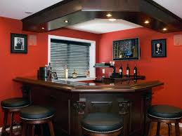 Interior:Wooden Basement Wet Bar Design Plus Unique Pendant Lamp Also High  Backrest Leather Stools