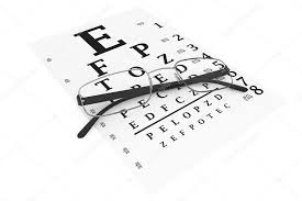 Modern Glasses With Eyechart Stock Photo Doomu 14955263