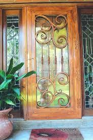 screen home depot glass decorative storm doors classic wrought iron security door 2 medium size