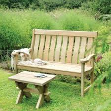 rustic wooden outdoor furniture. Garden Bench And Seat Pads: Lutyens Modern Redwood Patio Furniture Rustic Wooden Outdoor