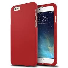 apple 6s case. apple iphone 6/ 6s case, [red] slim \u0026 protective rubberized matte finish 6s case e