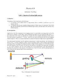 Detection Of Light Lab 7 Detection Of Light
