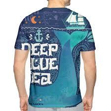 Nicokee 3d Print T Shirt Whale Sea Boat Ocean Anchor Pirate