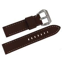 speidel brown mens 22mm wide contrast stitched calfskin leather watch strap com