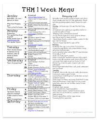 one week menu planner weekly menu planning gwens nest