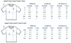 Gildan Ultra Cotton Size Chart Cm Best Picture Of Chart