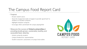 Campus Food Report Card — Meal Exchange Canada