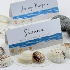 personalized beach themed shells by the sea wedding place cards Beach Themed Wedding Place Cards personalized beach themed shells by the sea wedding place cards loading zoom beach themed place cards for wedding