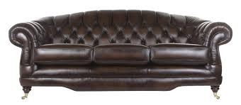 regent 3 seater leather sofa