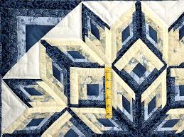 Diamond Log Cabin Quilt -- terrific ably made Amish Quilts from ... & ... Blue and Yellow Diamond Log Cabin Throw Photo 3 ... Adamdwight.com