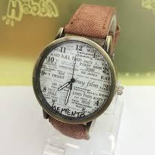 online buy whole watches news from watches news fashion unisex quartz watches men sports watches denim fabric women dress watch news paper wristwatch design