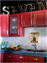 Yellow And Red Kitchen Kitchen Red Cabinets Under Countertop Exquisite Big Red Kitchen
