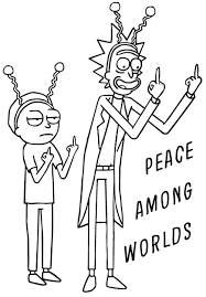 Rick and morty peace among worlds vinyl wall decal