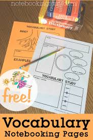Vocabulary Notebooking Pages | Worksheets & Printables for Pre-K ...