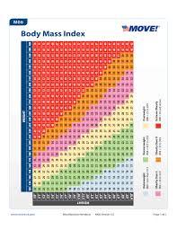 Standard Body Mass Index Chart Free Download