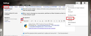 Manually Adding A Signature To Email Using Gmail Knowledgetree
