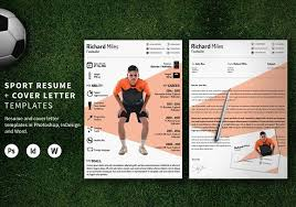 Sport Resume Resume Templates Creative Market