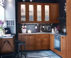 White Themes Small Kitchen With Chrome Kitchen Appliances And ...