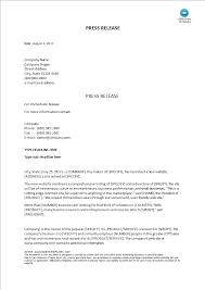Business Press Release Template Press Release Templates At Allbusinesstemplates Com